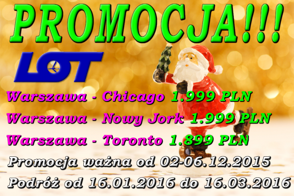 Promocja Mikołajkowa LOT 02-06.12.2015