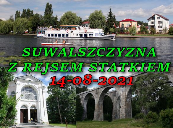 Wycieczka po Suwalszczyźnie z rejsem statkiem 14-08-2021 @ Augustów, Rynek Zygmunta Augusta 15