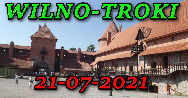 Dziedziniec zamku w Trokach na Litwie