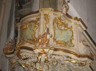 Bazylika katedralna Św. Franciszka Ksawerego ambona liturgiczna w Grodnie