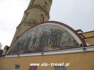 Wieża strażacka fresk w Grodnie