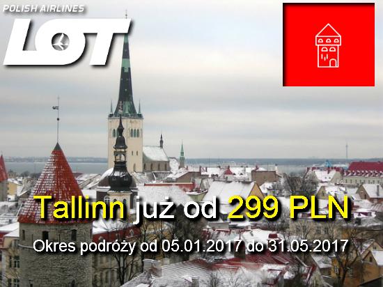 Promocja biletów lotniczych LOT do Tallina 09-12-2016