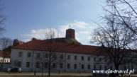 Widok na Basztę Giedemina w Wilnie Kaziuki