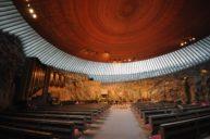 Kościół Temppeliaukio Helsinki wnętrze