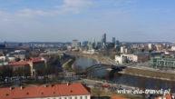 Widok na nowe miasto Baszta Giedemina Wilno Kaziuki