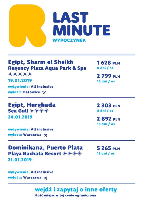 oferty wczasów Dominikana, Egipt