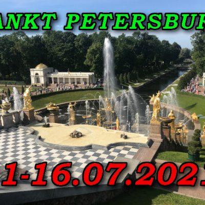 Sankt Petersburg Peterhof 11-16.07.2021