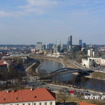 Nowe Miasto Wilna Widok z Baszty Giedemina Wilno