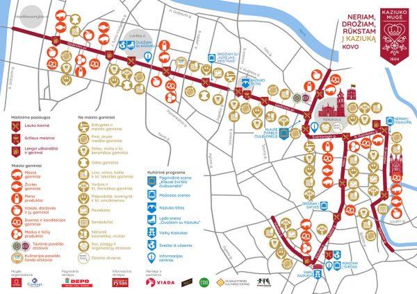 Mapa Kaziuków Wileńskich 2020