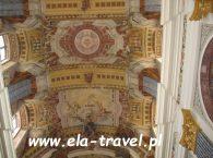 Sklepienie nawy głównej Bazyliki w Świętej Lipce