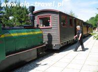 Pociąg Wąskotorówka Płociczno