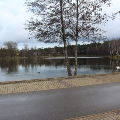 Jezioro Druskonis w Druskiennikach Litwa Uzdrowisko